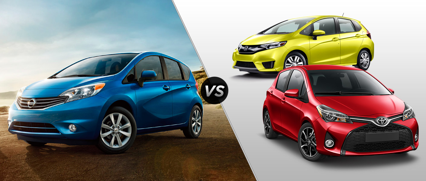 2015 Nissan Versa Note Vs 2015 Honda Fit Vs 2015 Toyota