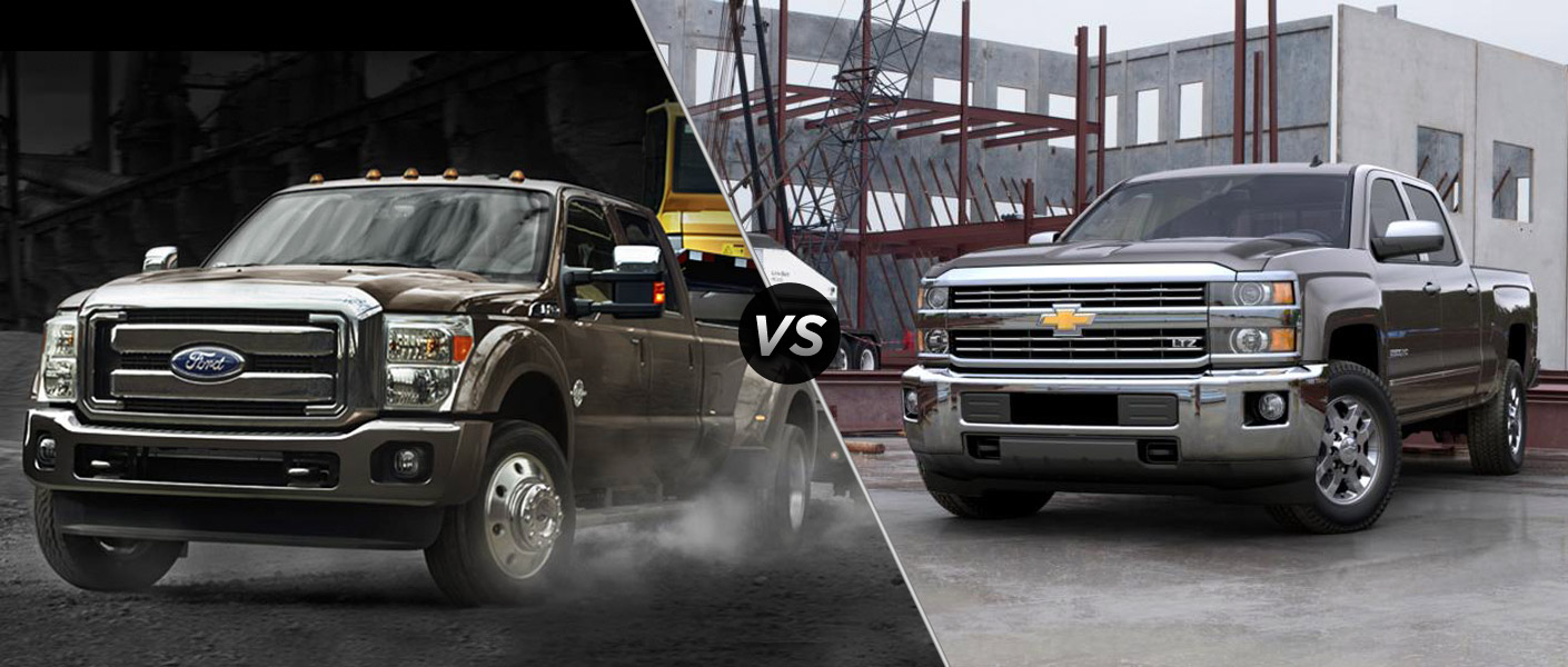 Comparisons 2015 Ford Super Duty F-250 vs 2015 Chevy Silverado 2500HD