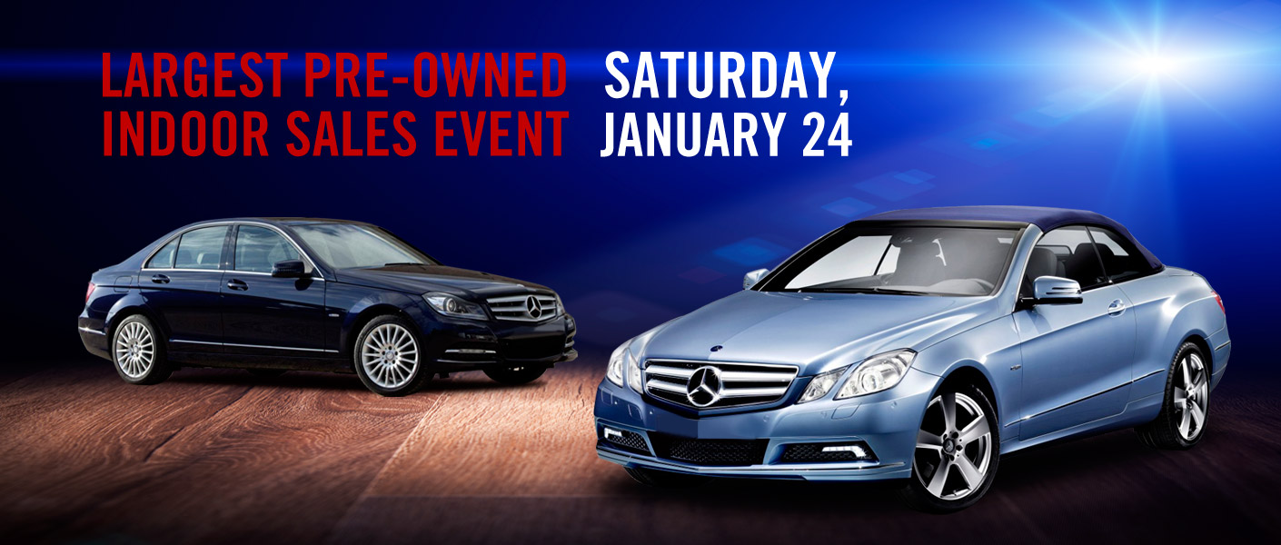 Largest pre owned indoor sales event kansas city jan 24 for Mercedes benz certified pre owned sales event