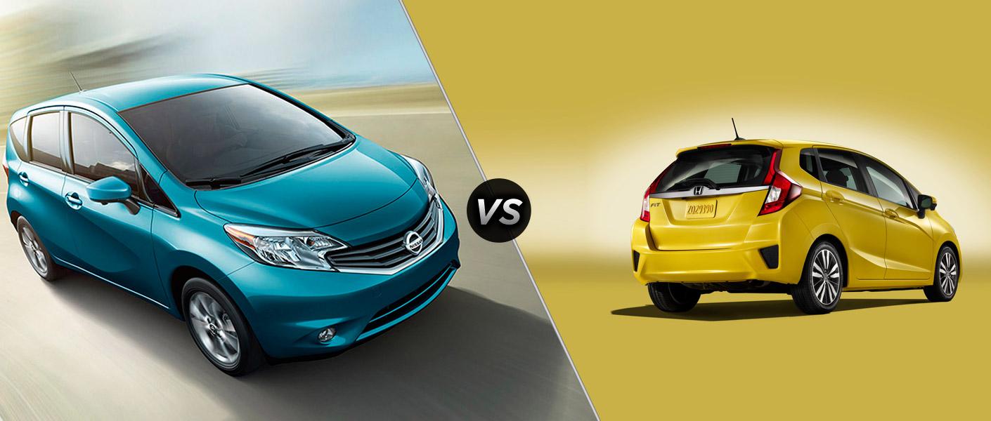 Honda Fit 2015 Lx >> Nissan versa hatchback vs honda fit