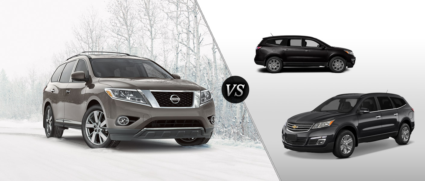 2014 nissan pathfinder vs. 2014 chevy traverse - nissan pathfinder