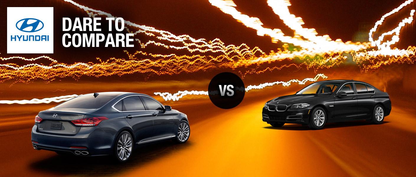 2015 Hyundai Genesis AWD vs BMW 5 Series xDrive