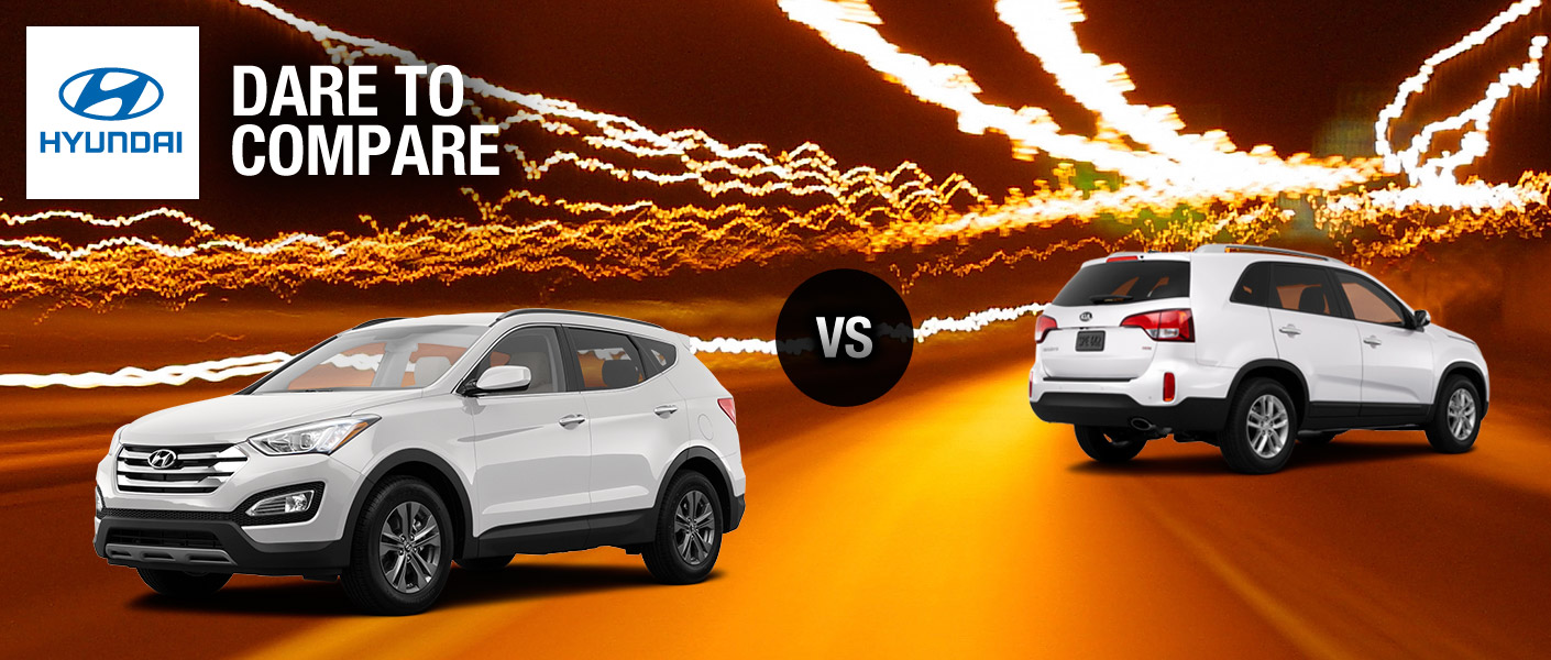 2014 Hyundai Santa Fe vs 2014 Kia Sorento