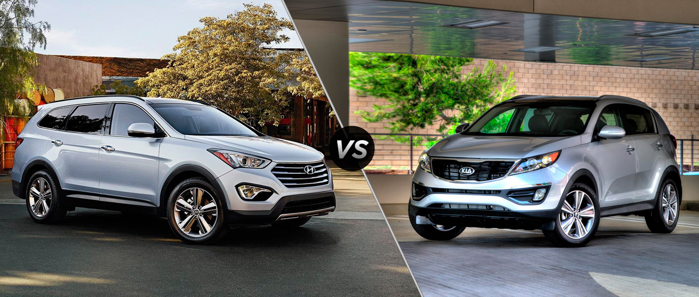 2016 hyundai santa fe sport vs 2016 kia sportage. Black Bedroom Furniture Sets. Home Design Ideas