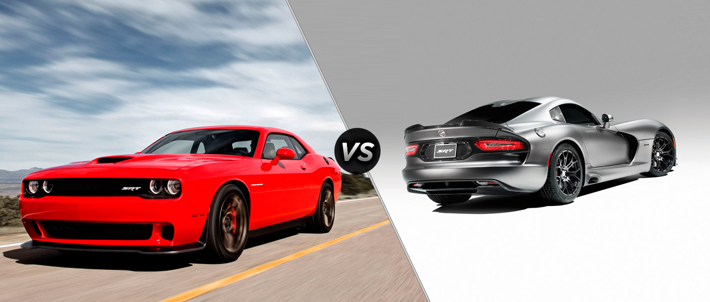 Compare the 2015 Dodge Challenger Hellcat SRT vs 2015 Dodge Viper SRT