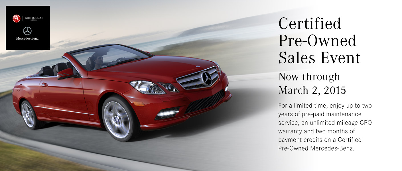 Mercedes benz certified pre owned sales event merriam ks for Mercedes benz certified pre owned canada