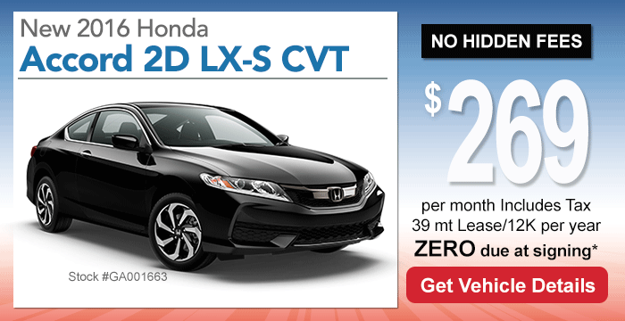 Honda Accord Coupe Lease Special