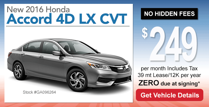 Honda Accord Sedan Lease Special