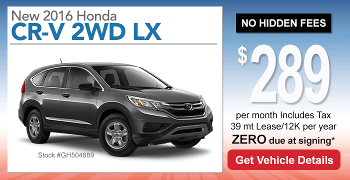 Honda CR-V Lease Special