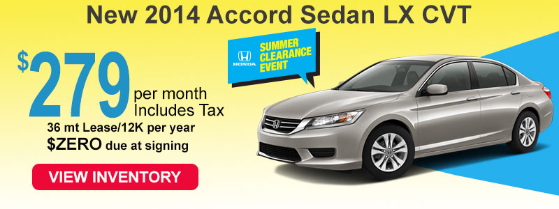 2014 Accord LX for 279 a month