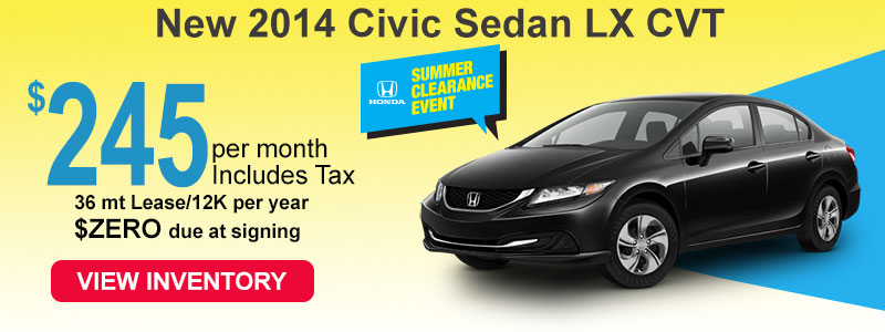 2014 Honda Civic LX for $245 a month