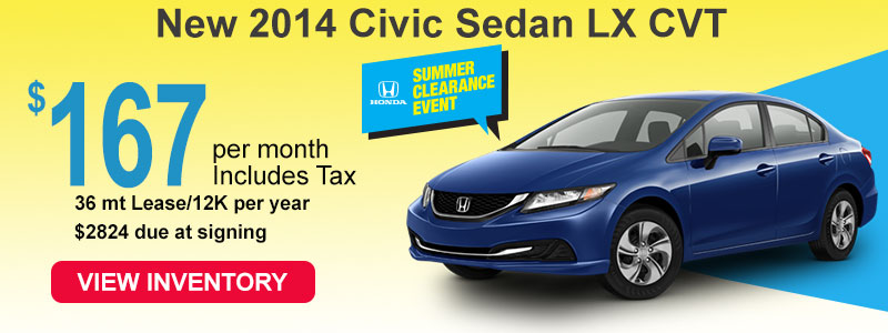 2014 Honda Civic LX 167 a month