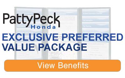 Patty Peck Honda Value Package