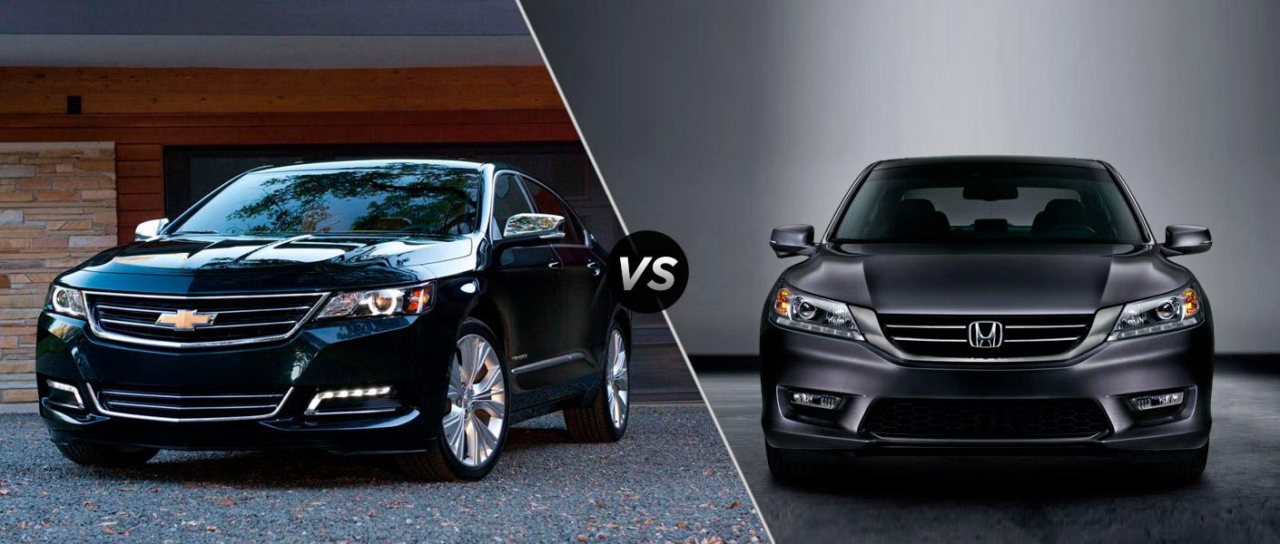Compare honda accord chevy impala for Chevy malibu vs honda accord
