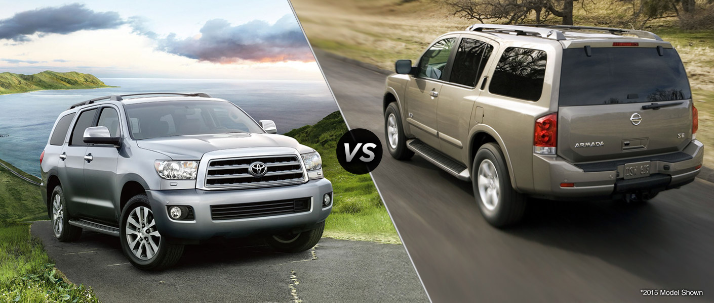 2016 toyota sequoia vs 2016 nissan armada. Black Bedroom Furniture Sets. Home Design Ideas