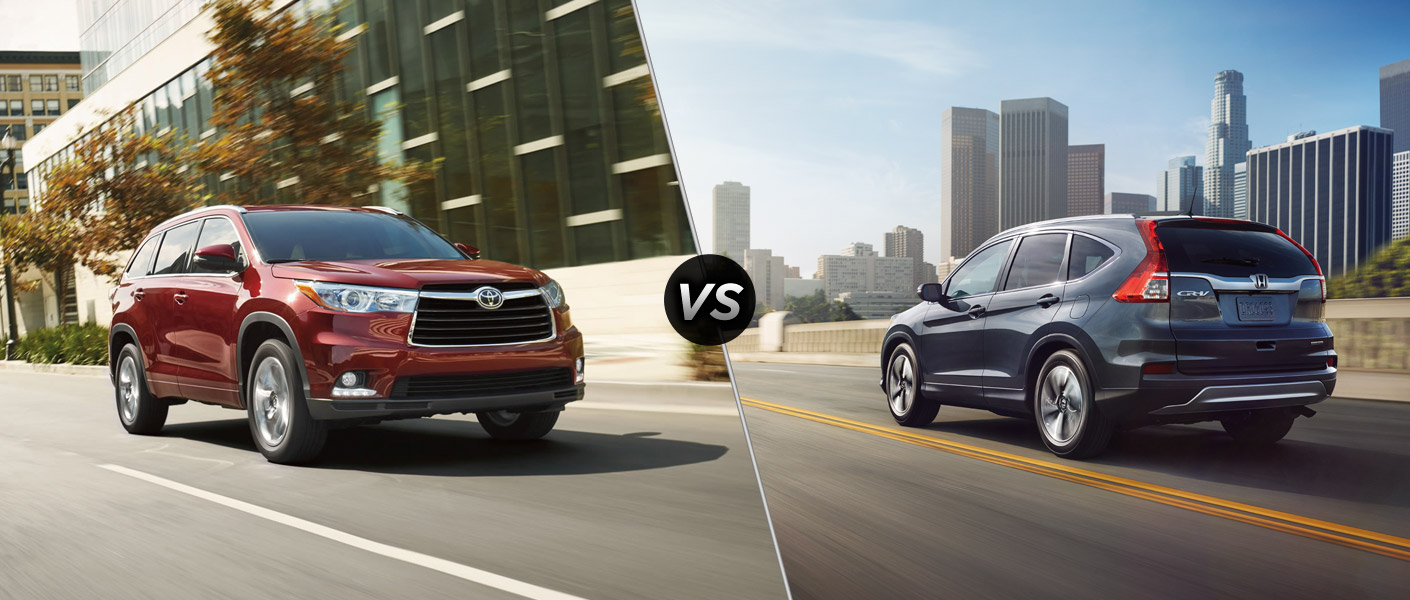 2015 toyota highlander hybrid vs 2015 honda cr v