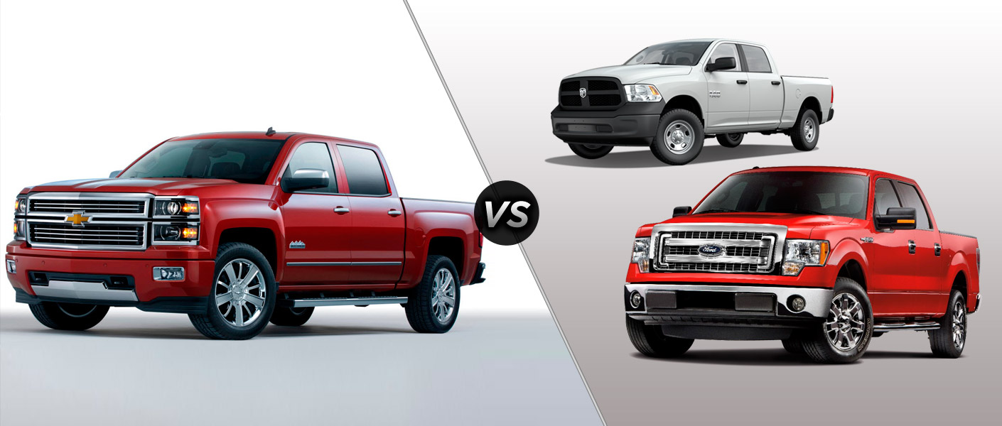 2014 Chevy Silverado 1500 vs 2014 Ford F-150 vs Dodge Ram