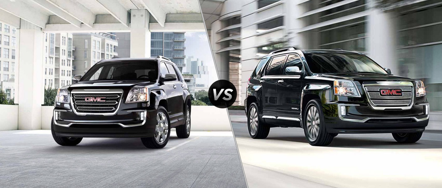 2016 gmc terrain slt vs 2016 gmc terrain denali. Black Bedroom Furniture Sets. Home Design Ideas