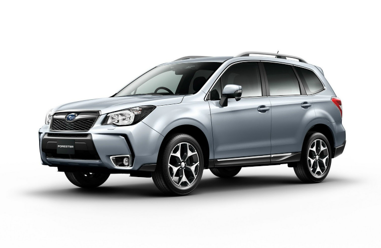 silver side exterior of forester