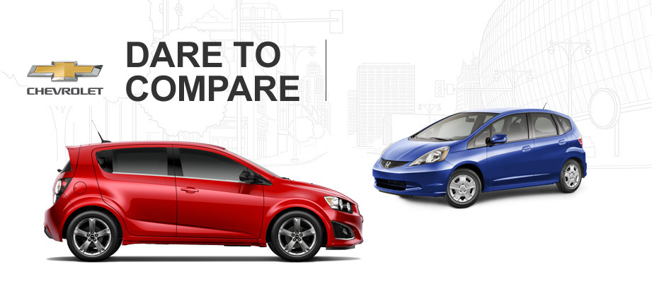 chevy sonic vs honda fit. Black Bedroom Furniture Sets. Home Design Ideas