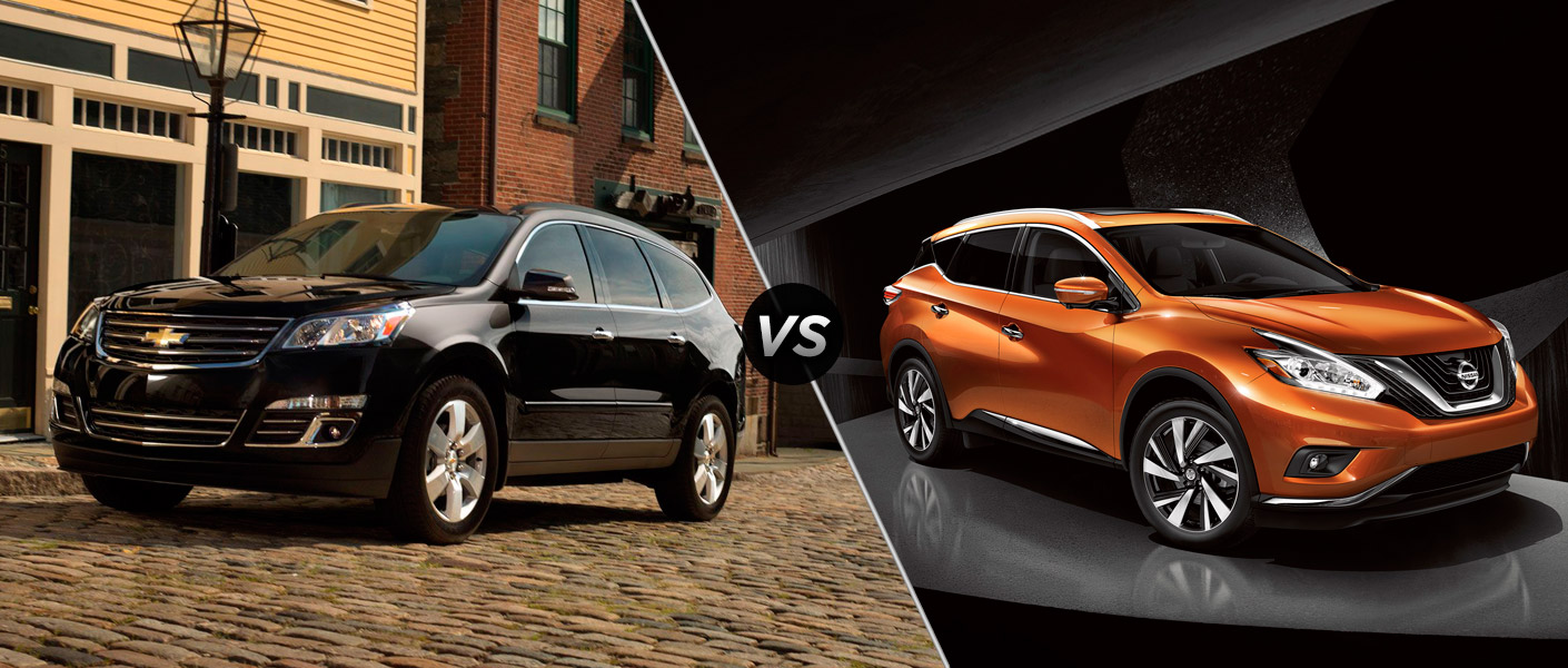 2015 chevy traverse vs 2015 nissan murano. Black Bedroom Furniture Sets. Home Design Ideas