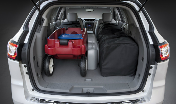 Cargo space 2016 Chevy Traverse vs. 2016 Ford Edge