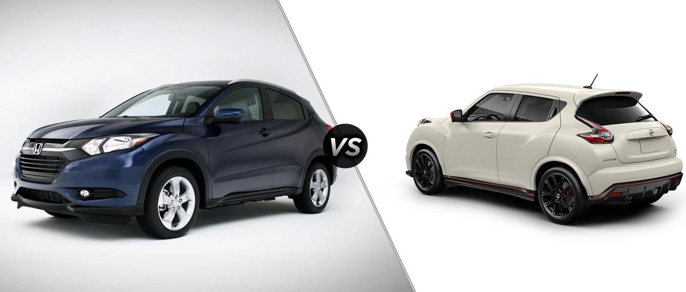 2016 honda hr v vs 2015 nissan juke for Nissan juke vs honda hrv