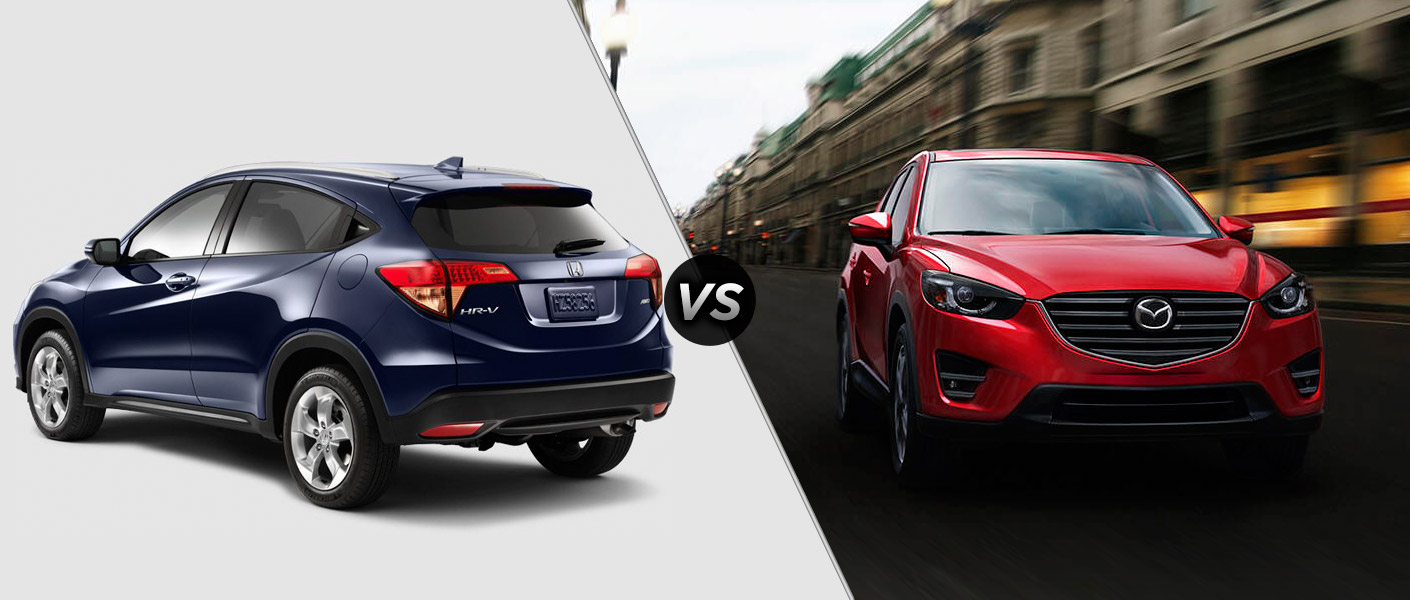 2016 honda hr v vs 2016 mazda cx 5 for Honda hrv vs honda crv