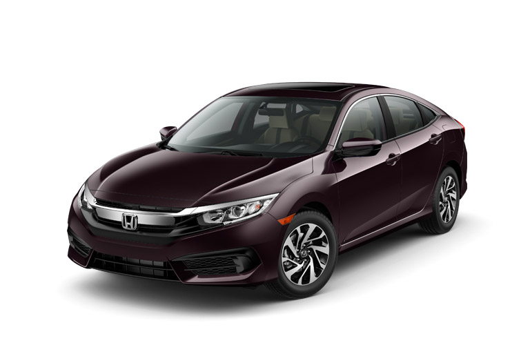2016 honda civic lx vs 2016 honda civic ex. Black Bedroom Furniture Sets. Home Design Ideas