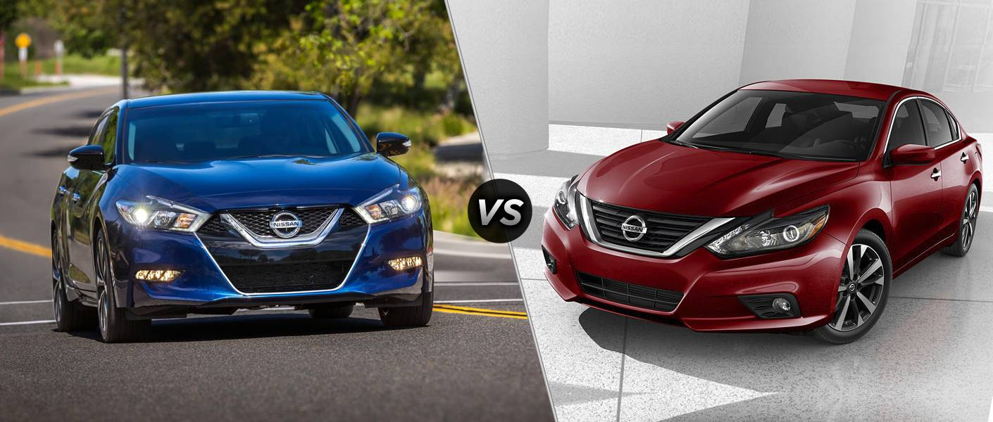 2016 nissan altima vs 2016 nissan maxima. Black Bedroom Furniture Sets. Home Design Ideas