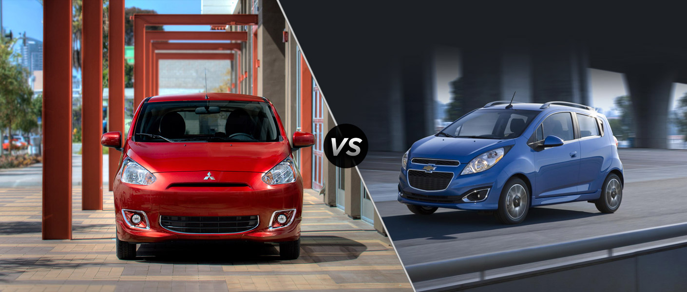 2014 Mitsubishi Mirage Vs 2014 Chevy Spark