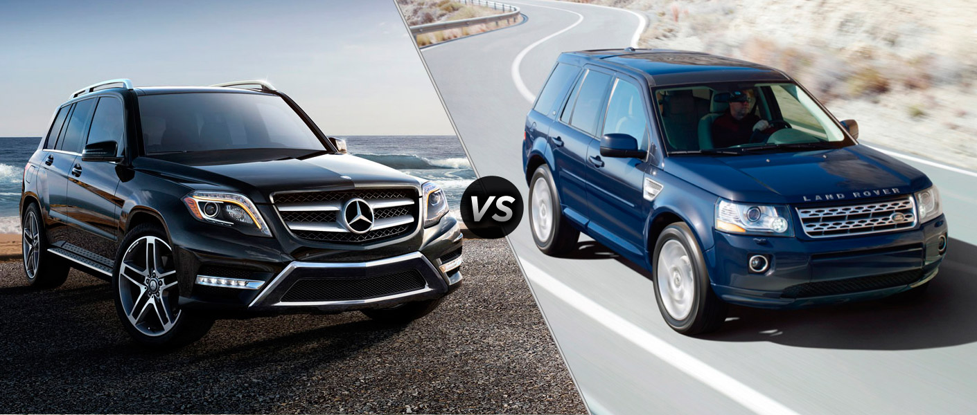 2014 mercedes benz glk350 vs land rover lr2. Black Bedroom Furniture Sets. Home Design Ideas