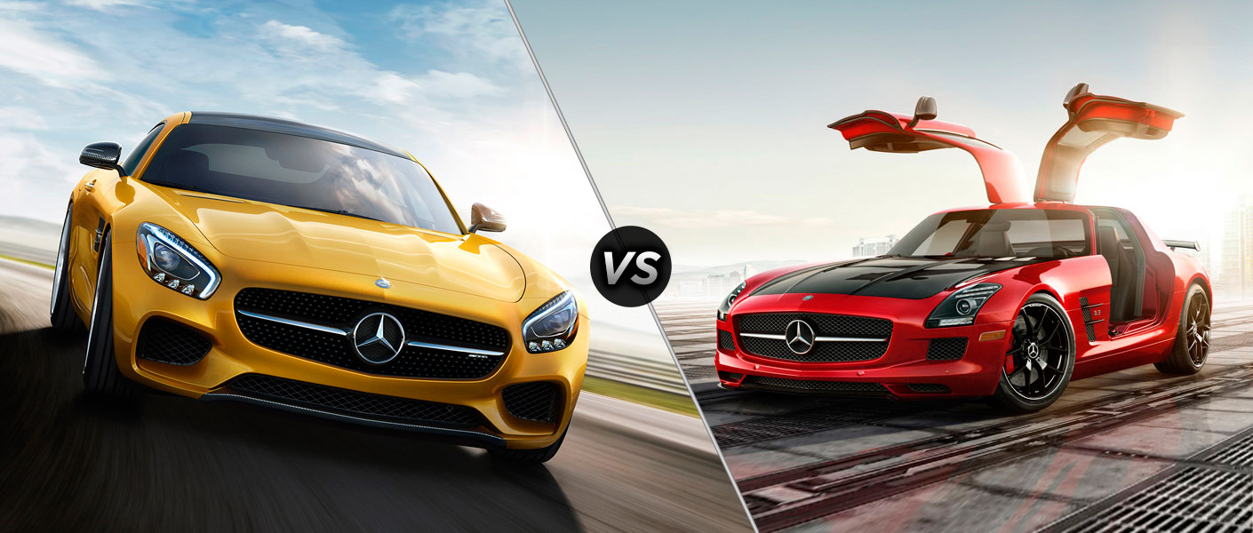 2016 mercedes amg gt vs mercedes benz sls amg. Black Bedroom Furniture Sets. Home Design Ideas
