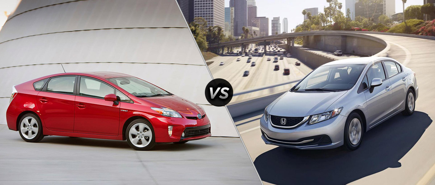 Prius vs honda civic for Honda fit vs civic