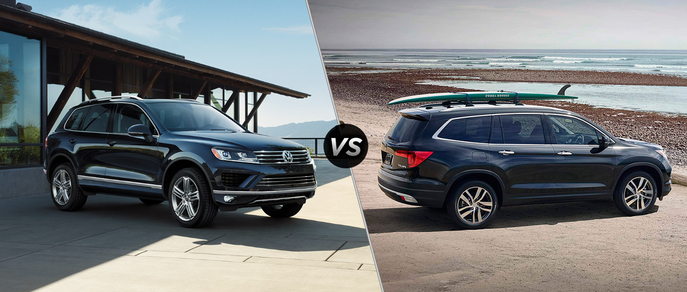 2016 volkswagen touareg vs 2016 honda pilot. Black Bedroom Furniture Sets. Home Design Ideas