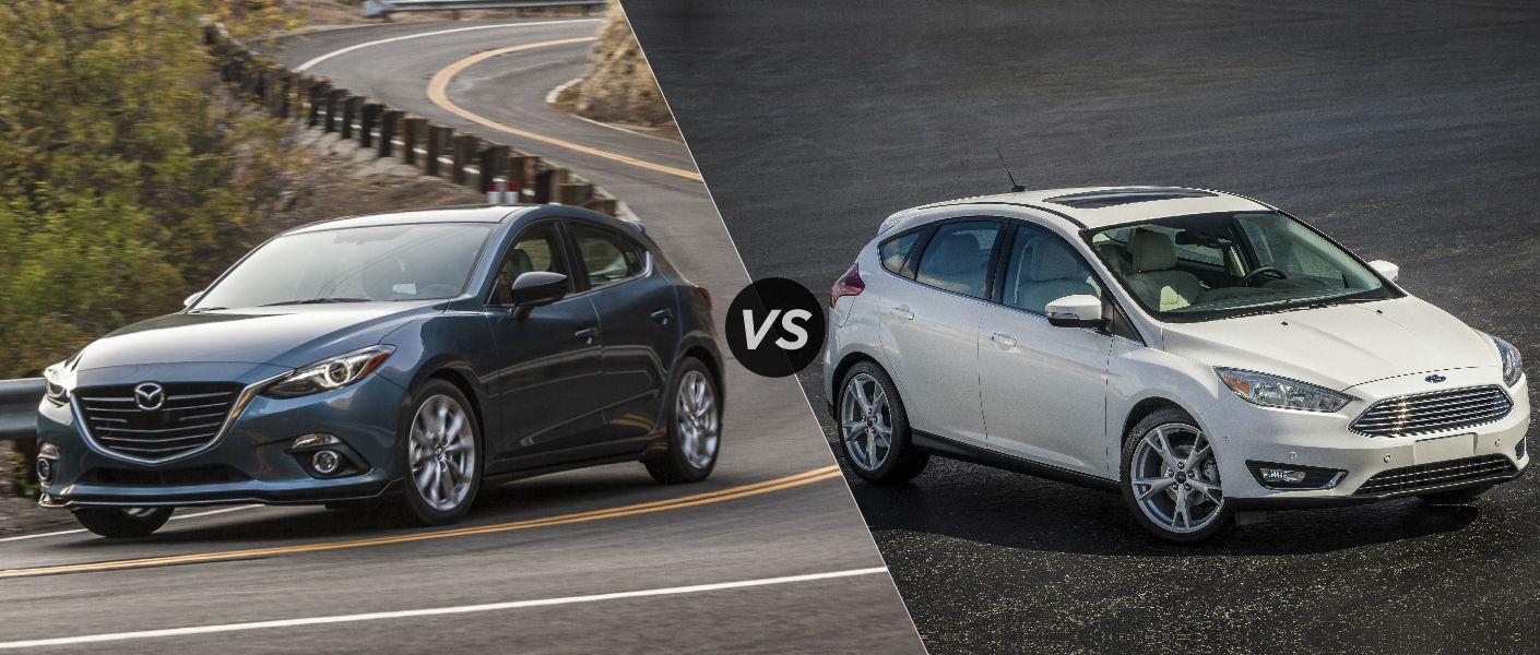2016 Mazda 3 Hatchback vs 2016 Ford Focus Hatchback