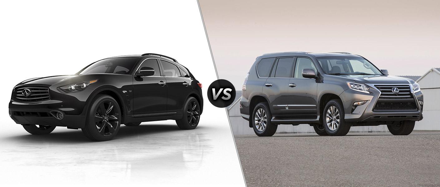 new cars model comparisons 2016 infiniti qx70 vs 2016 lexus gx 460. Black Bedroom Furniture Sets. Home Design Ideas
