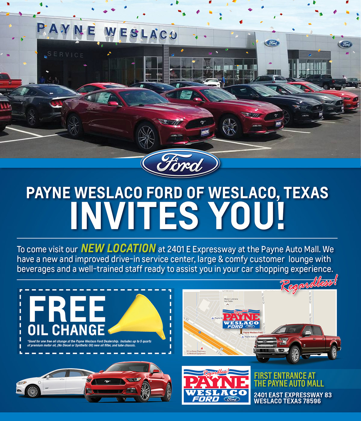 Ford dealership weslaco tx used cars payne weslaco ford for Ed payne motors mission