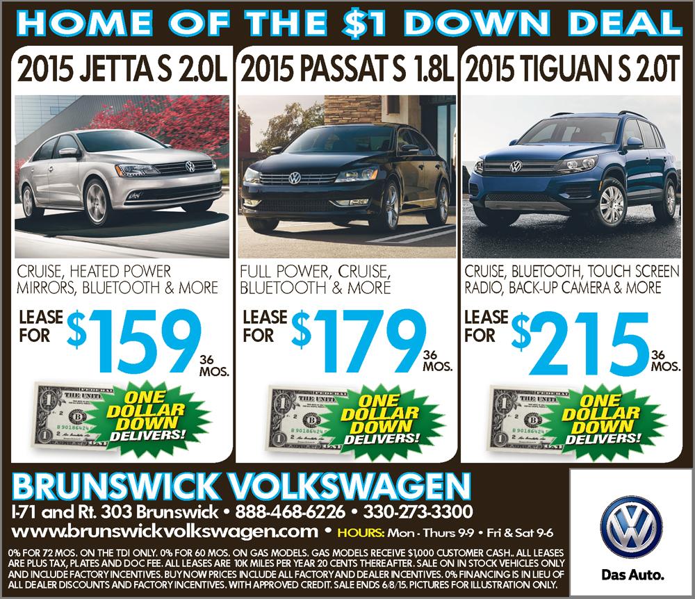 Brunswick Volkswagen Weekly Plain Dealer Ad