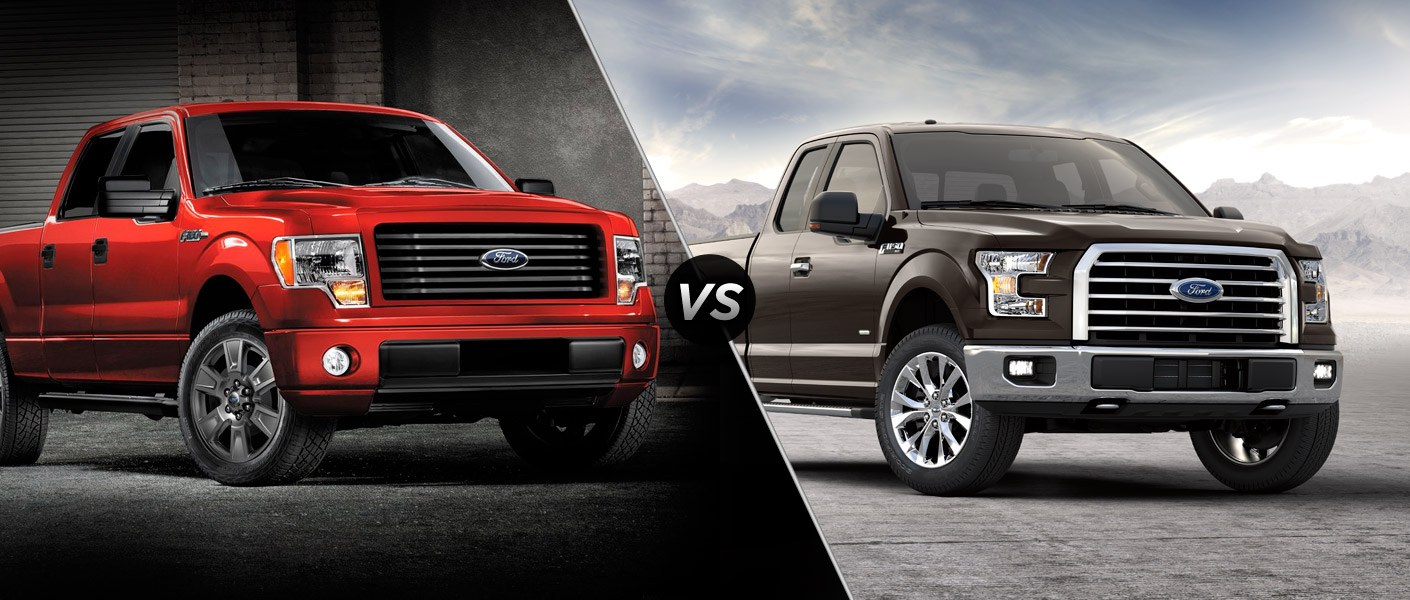 2014 ford f 150 vs 2015 ford f 150. Black Bedroom Furniture Sets. Home Design Ideas