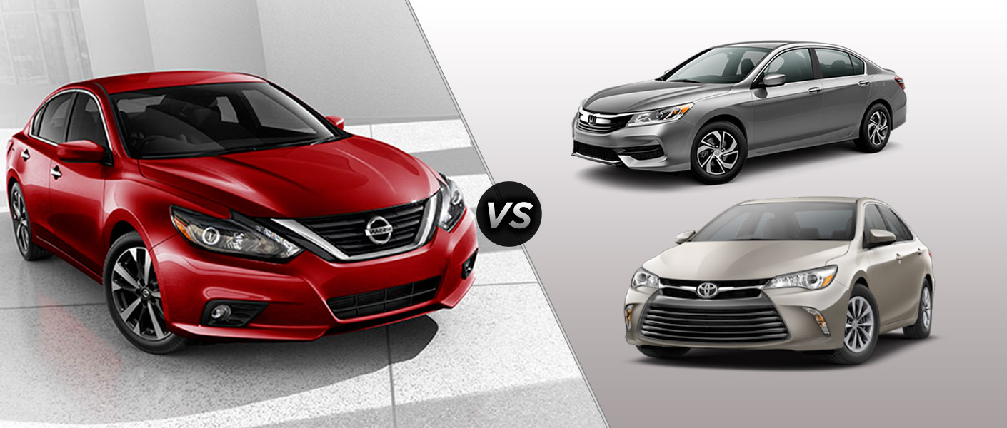 Honda Accord Vs Toyota Camry Vs Nissan Altima