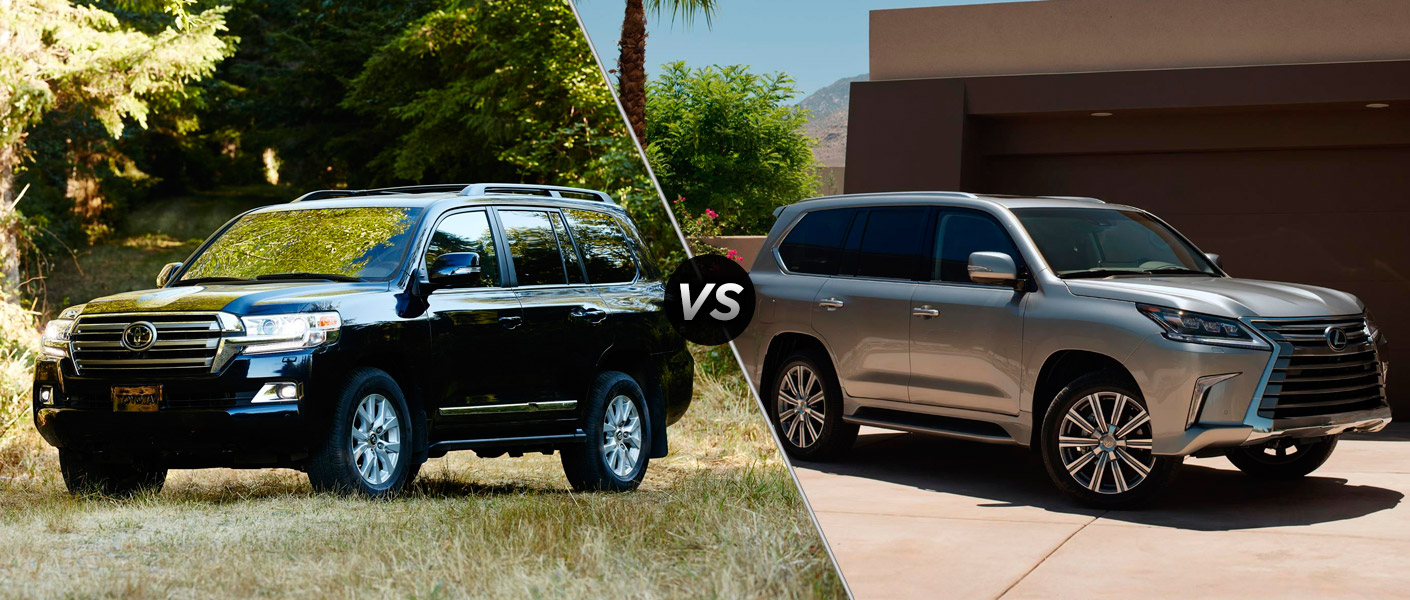 Home 2016 Toyota Land Cruiser vs 2016 Lexus LX 570