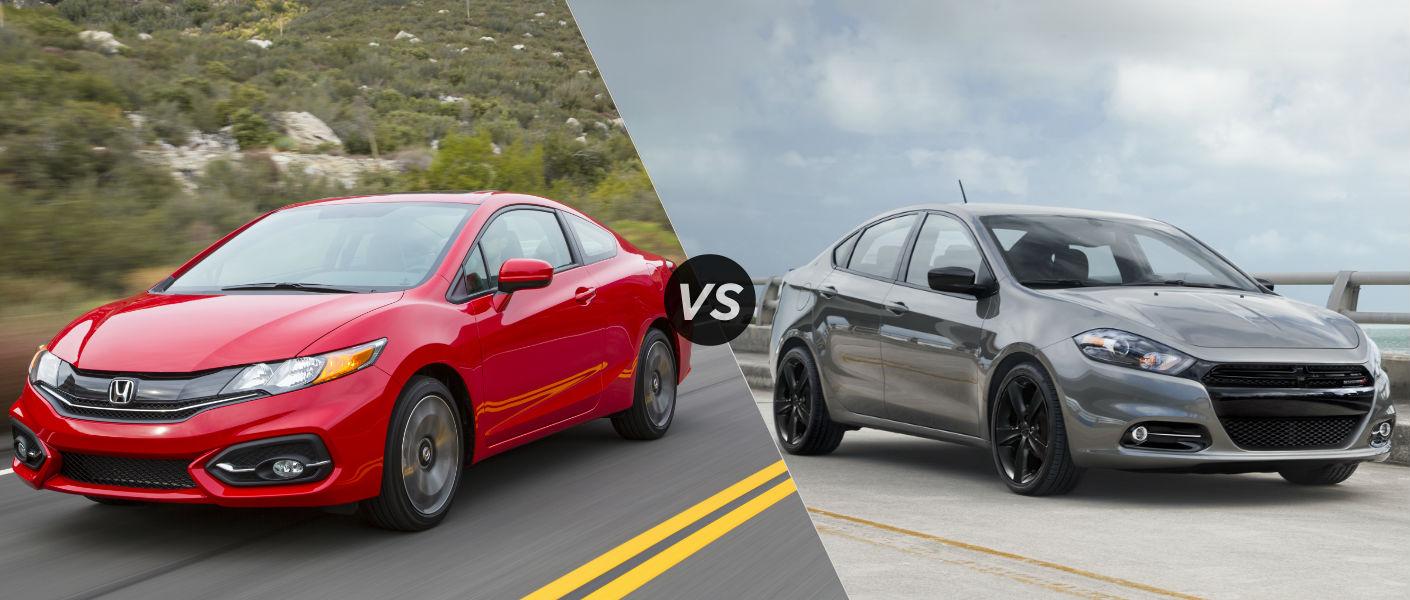 Dodge Dart Safety Ratings >> 2015 Honda Civic vs 2015 Dodge Dart