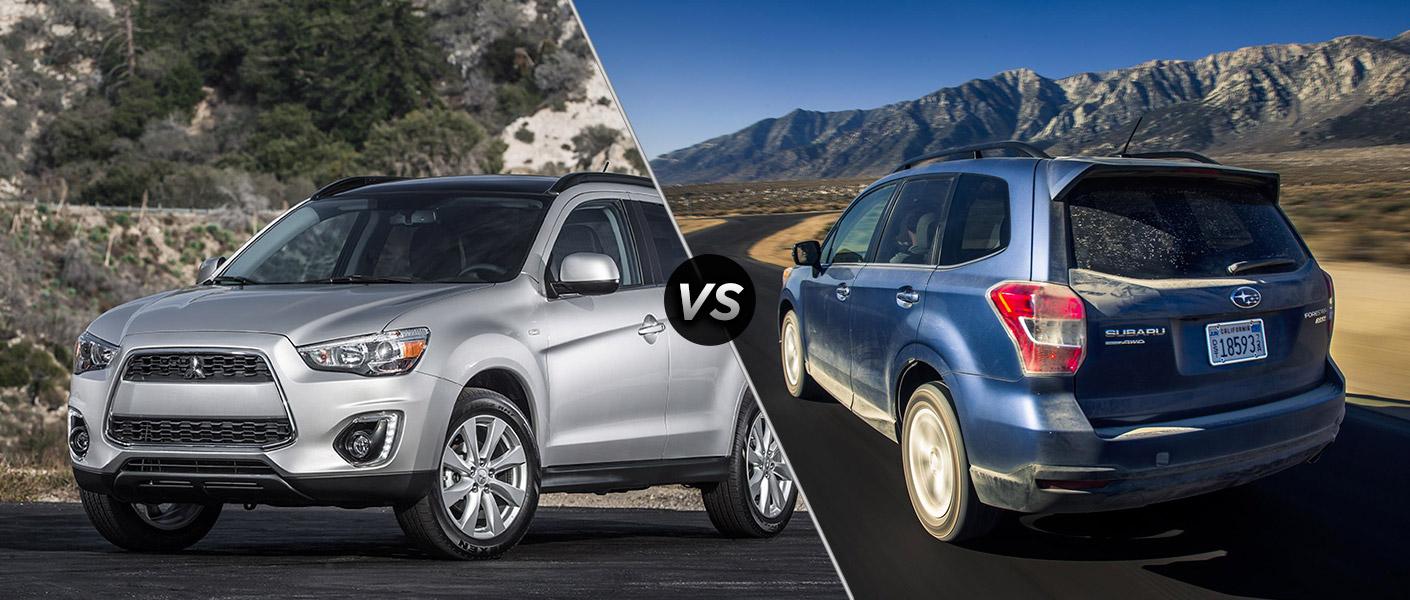 2015 Mitsubishi Outlander Sport vs 2015 Subaru Forester