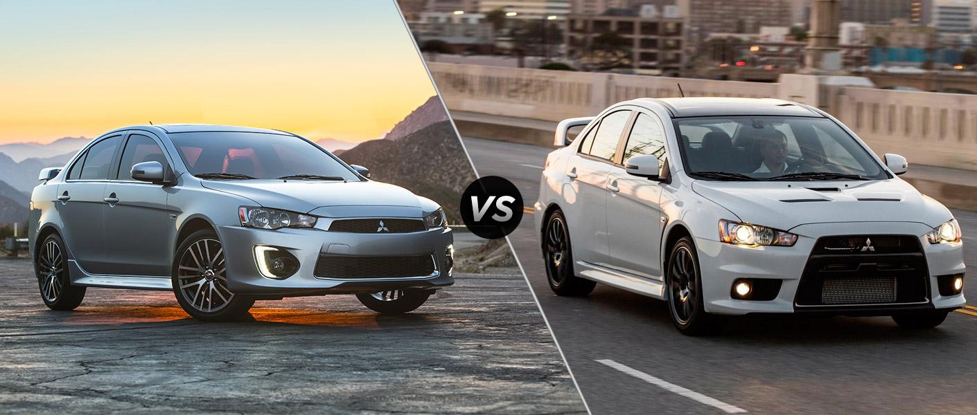 2016 Mitsubishi Lancer vs 2015 Mitsubishi Lancer EVO