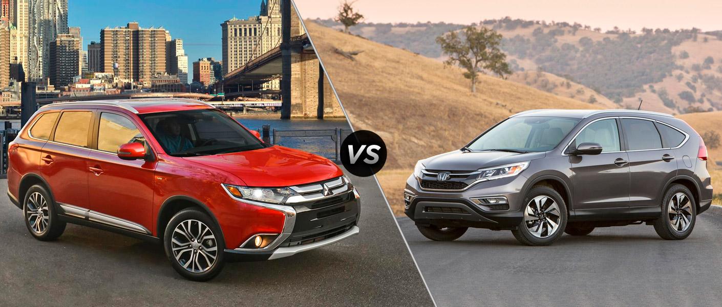 2016 Mitsubishi Outlander vs 2015 Honda CR-V Don Herring Mitsubishi