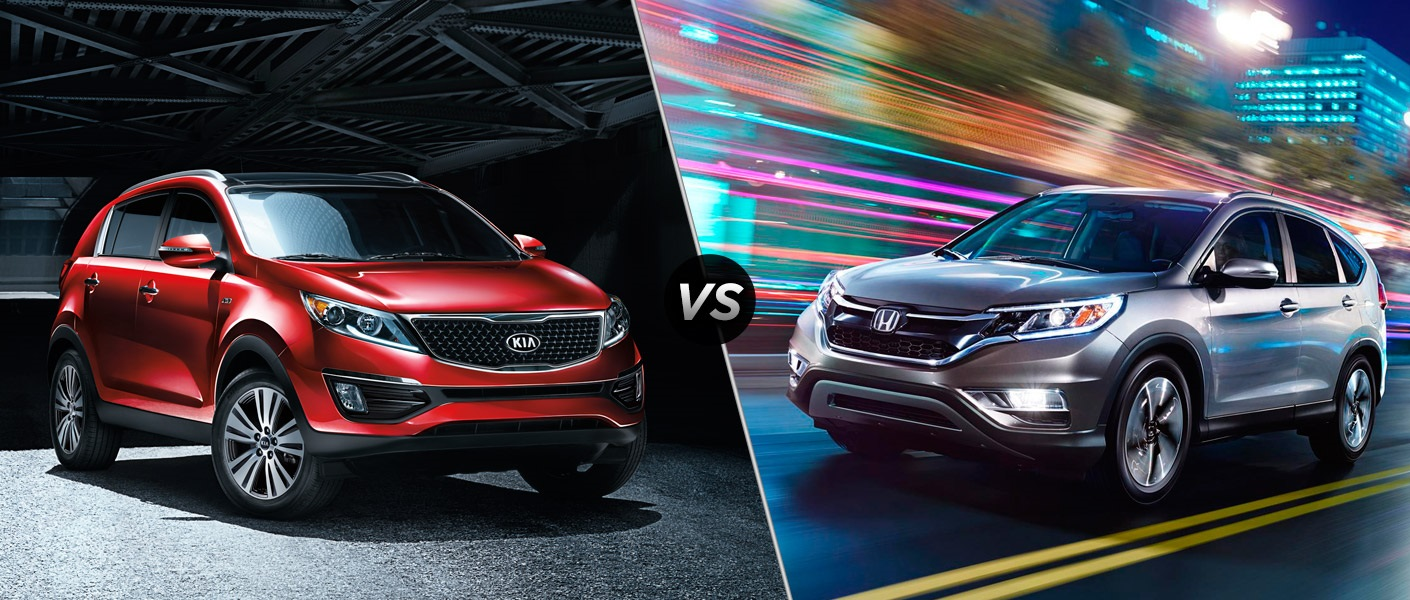 2016 kia sportage vs 2016 honda cr v for Honda crv competitors