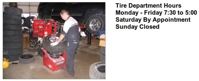 Tire Dept Adamson Motors Rochester Mn