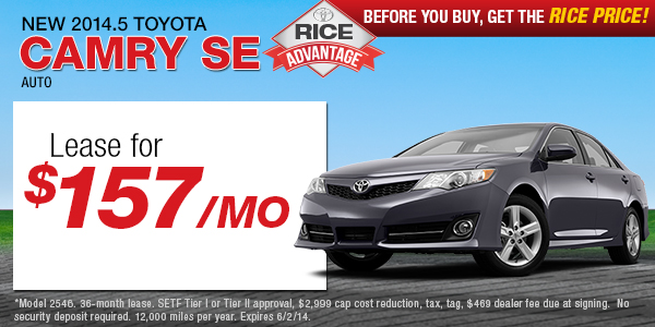 Rice toyota coupons