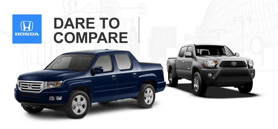 Ridgeline vs tacoma vs frontier autos post for Honda dealership tacoma